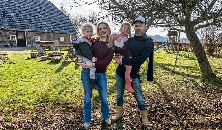 Anne van Weeghel en haar gezin verruilden Utrecht voor een woning in de Achterhoek